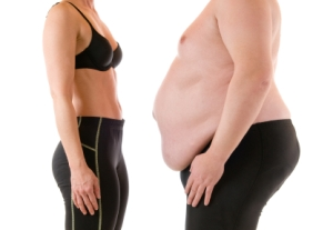 Man and woman body fat